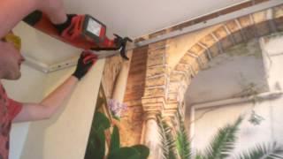 видео Натяжные потолки без газа - безопасный монтаж, способы установки без газа