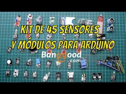 Review Kit De 45 Sensores Y Módulos Para Arduino De La Mano