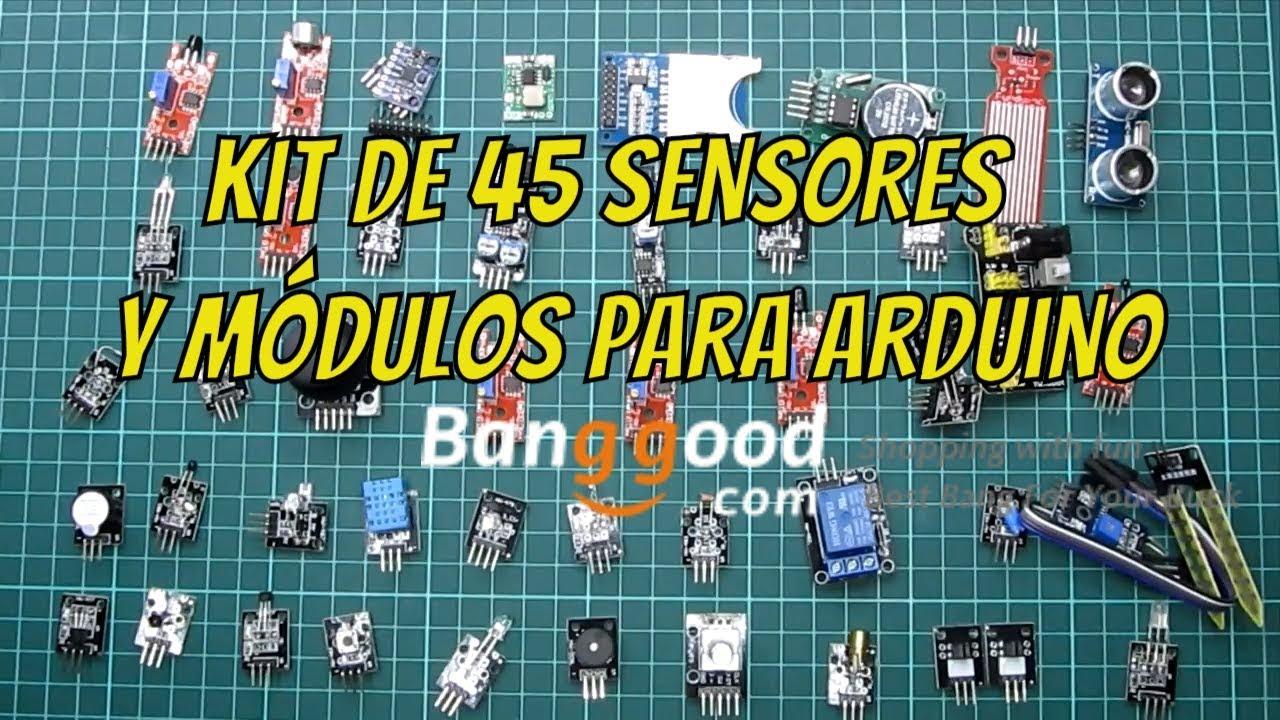 Review Kit De 45 Sensores Y Módulos Para Arduino De La Mano De Banggood Com