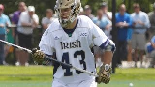 Matt Landis Notre Dame Lacrosse Career Highlights