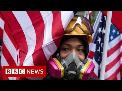 Hong Kong protesters celebrate Thanksgiving - BBC News
