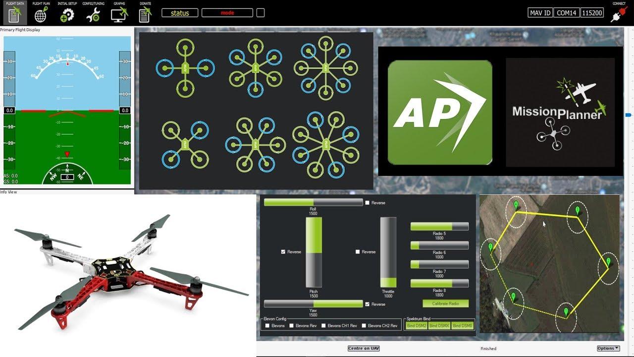 APM Planner | Mission Planner Quadcopter Setup | Programming