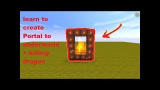 [1.4 k Spezielle Ansichten], Wie zum erstellen von portal zu Hölle + das TÖTEN von DRACHEN(miniWorld)