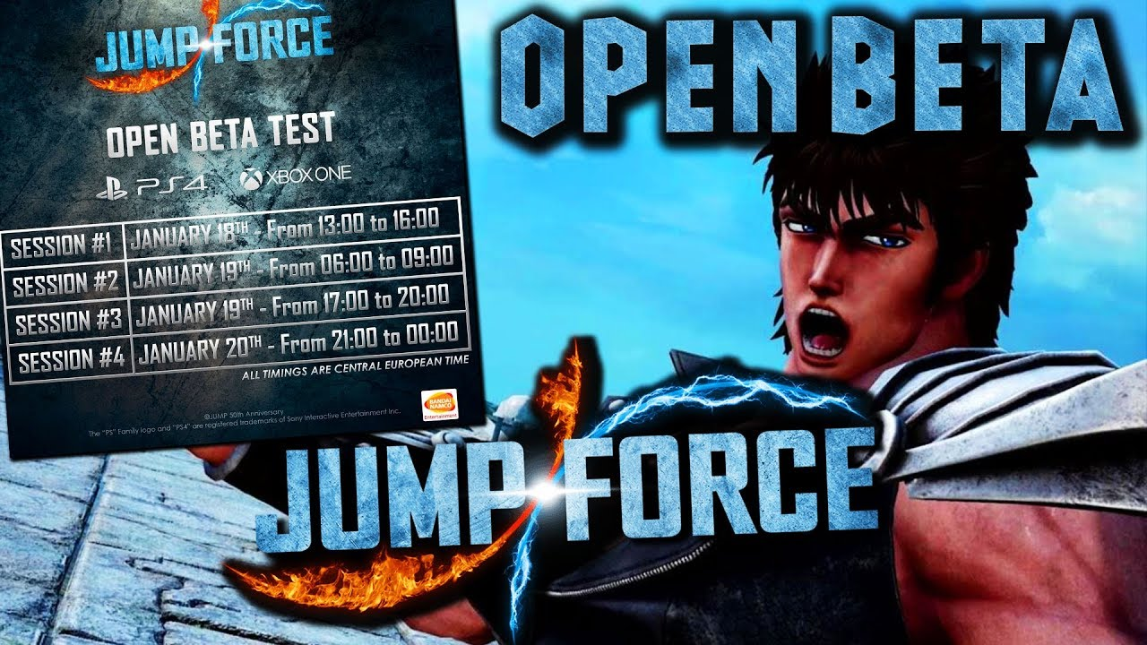 JUMP FORCE OPEN BETA DETAILS ARE HERE!!!