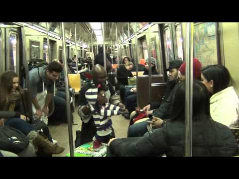 ventriloquist fight on NYC subway - XPLICIT VERSION - PICKING UP GIRLS PART 2