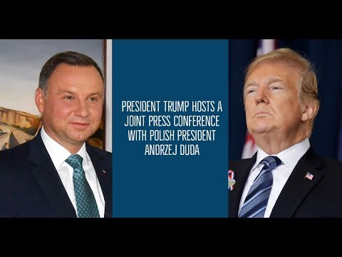 President Trump Hosts A Joint Press Conference with Polish President Andrzej Duda