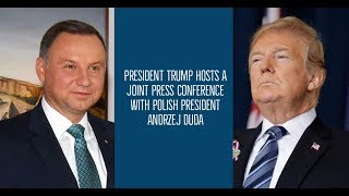 President Trump Hosts A Joint Press Conference with Polish President Andrzej Duda thumbnail