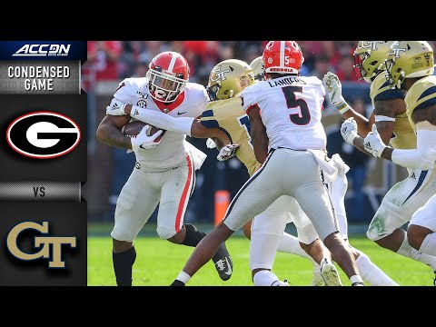 Georgia Vs. Georgia Tech Condensed Game | ACC Football 2019-20