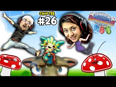 Lets Play SKYLANDERS SUPERCHARGERS Chapter 26: FUNGI FUNHOUSE!  Mom has HUGE HEAD! Like OMG, So Big!