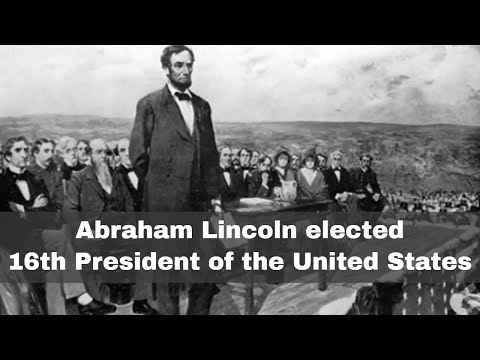 6th November 1860: Abraham Lincoln elected 16th President of the USA