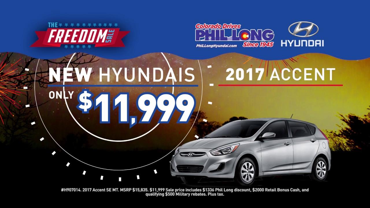 Phil Long Hyundai >> Phil Long Hyundai Chapel Hills July Freedom Sale Youtube