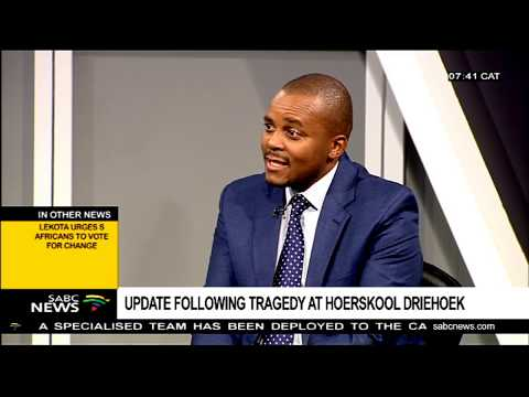 Update following tragedy at Hoërskool Driehoek