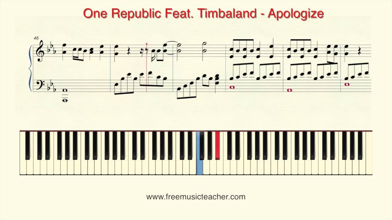 How to play piano one republic feat timbaland apologize piano how to play piano one republic feat timbaland apologize piano tutorial by ramin yousefi hexwebz Choice Image