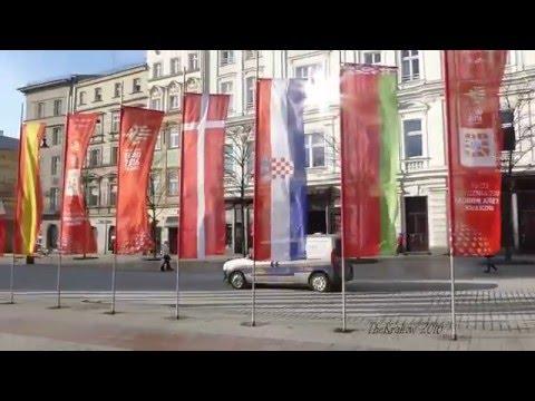 ME Piłka Ręczna 2016 Kraków Flagi Na Rynku 2016, Tauron Arena Euro 2016