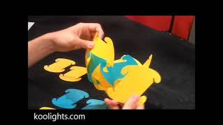Koolights: How to assemble 30 elements (Colorful Ball lamp)
