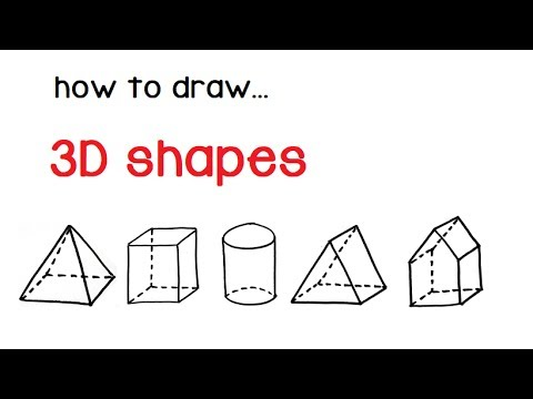 How to draw 3d shapes (pyramid, cube, cylinder, prism