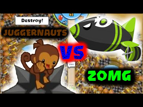 100+ Juggernauts vs  ZOMG! | Bloons TD Battles Gameplay is Back!