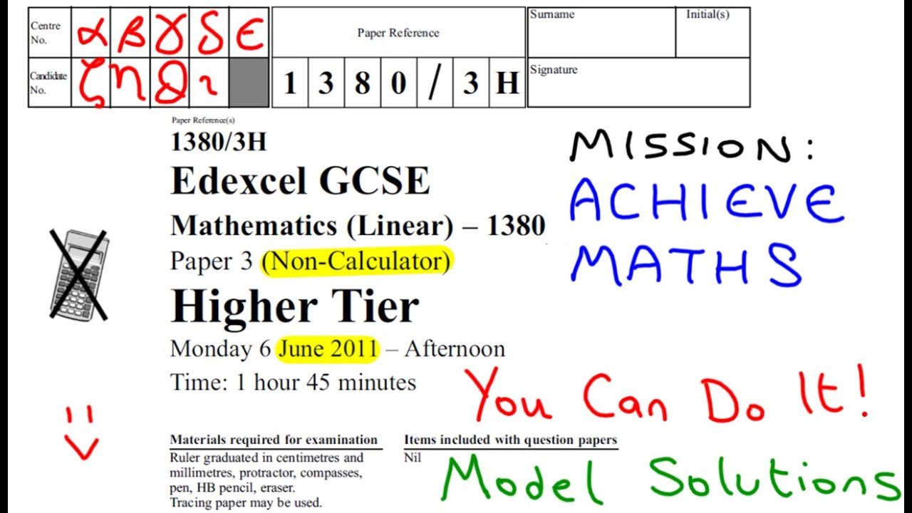 edexcel maths unit 3 specimen terminal paper mark scheme Sample assessment test and mark scheme 3 paper 2 pearson edexcel evel evel 2 gcse ( ) in mathematics sams draft may 2 pearson edexcel level 1/level 2.