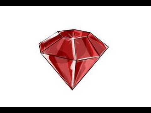How to draw gems - YouTube
