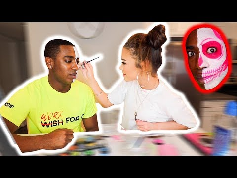 DOING MY HALLOWEEN MAKEUP FOR THE FIRST TIME w/ Devyn Lundy thumbnail