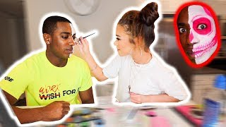 DOING MY HALLOWEEN MAKEUP FOR THE FIRST TIME w/ Devyn Lundy