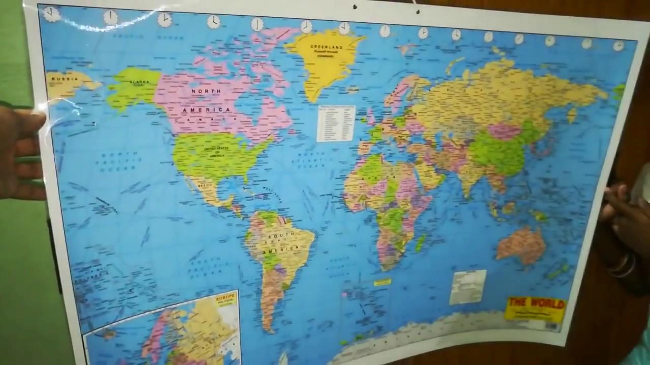 Maps world india unboxing amazon youtube maps world india unboxing amazon gumiabroncs Gallery