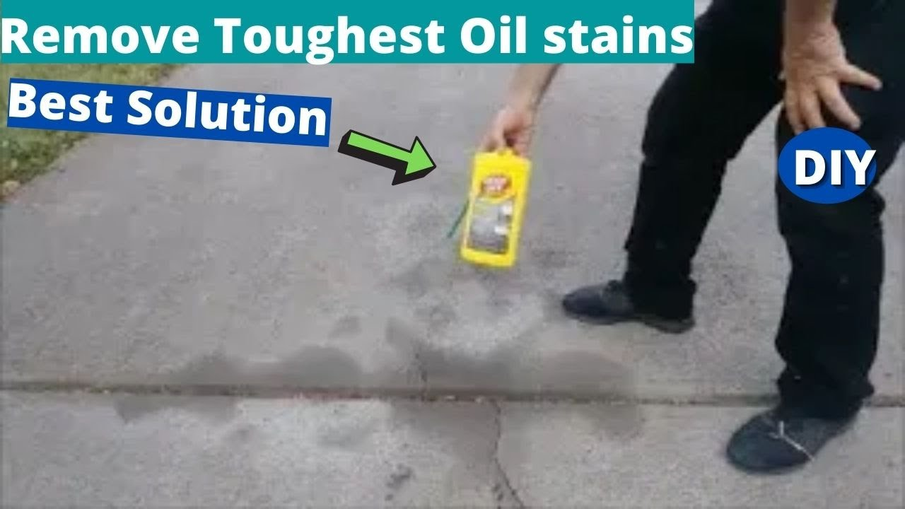 Remove Toughest Oil stains From Driveway - Goof Off - Best Solution Ever
