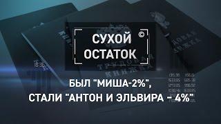 """Был """"Миша-2%"""", стали """"Антон и Эльвира – 4%"""" [Сухой остаток]"""