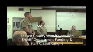 Lassen Sheriff Staff Classifications and Budget Part 2