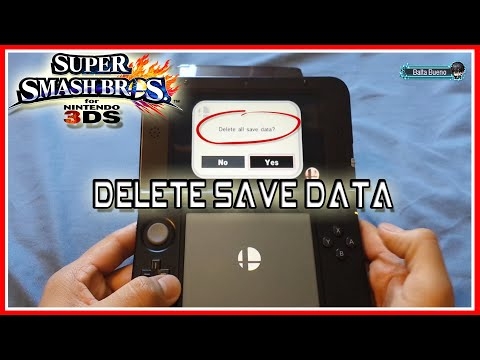 HOW TO DELETE YOUR SUPER SMASH BROS 3DS SAVE DATA