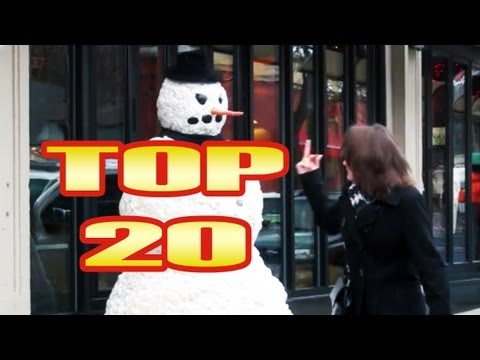 Funny Scary Snowman Prank Top 20 Reactions - Season 3
