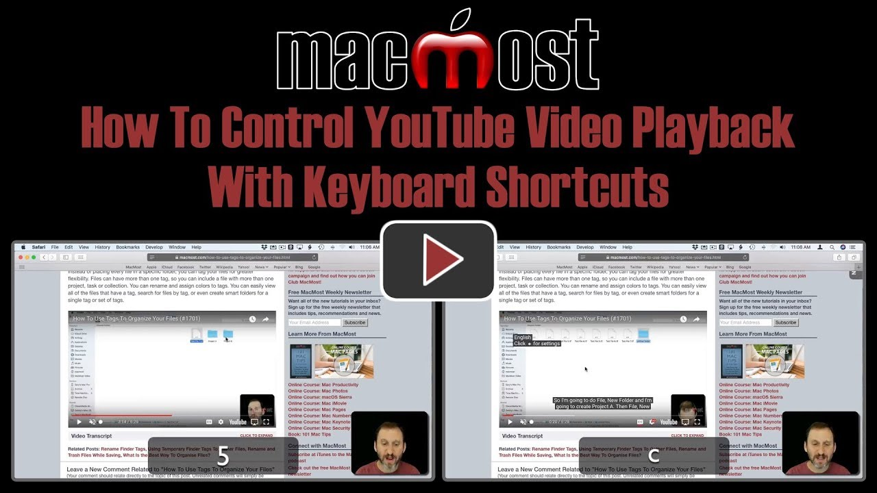 How To Control YouTube Video Playback With Keyboard Shortcuts