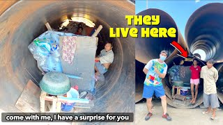Buying an ENTIRE STORE for Homeless Family Living in a HUGE Steel Tube 🙏🇵🇭