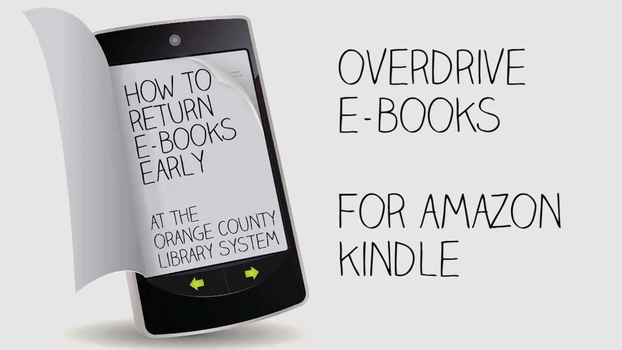 How To Return OverDrive E-Books For Amazon Kindle