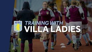 Training with Aston Villa Ladies