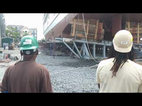 Boat launch at chesapeake shipbuilding