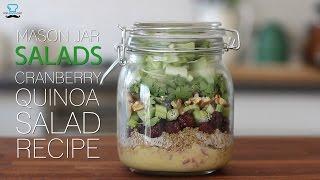 Quinoa cranberry salad recipe - Mason Jar Salad