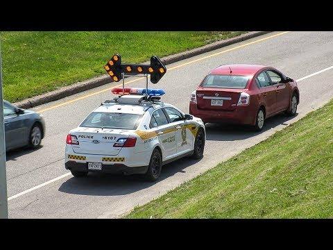 West Island | Sûreté du Québec (SQ) Highway Police Cars Responding & Performing Traffic Stops