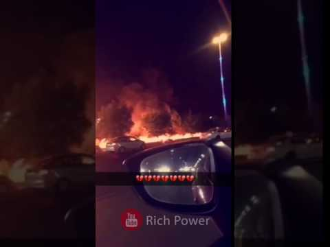 Petrol Truck catches Fire after accident on Makkah Jeddah Highway