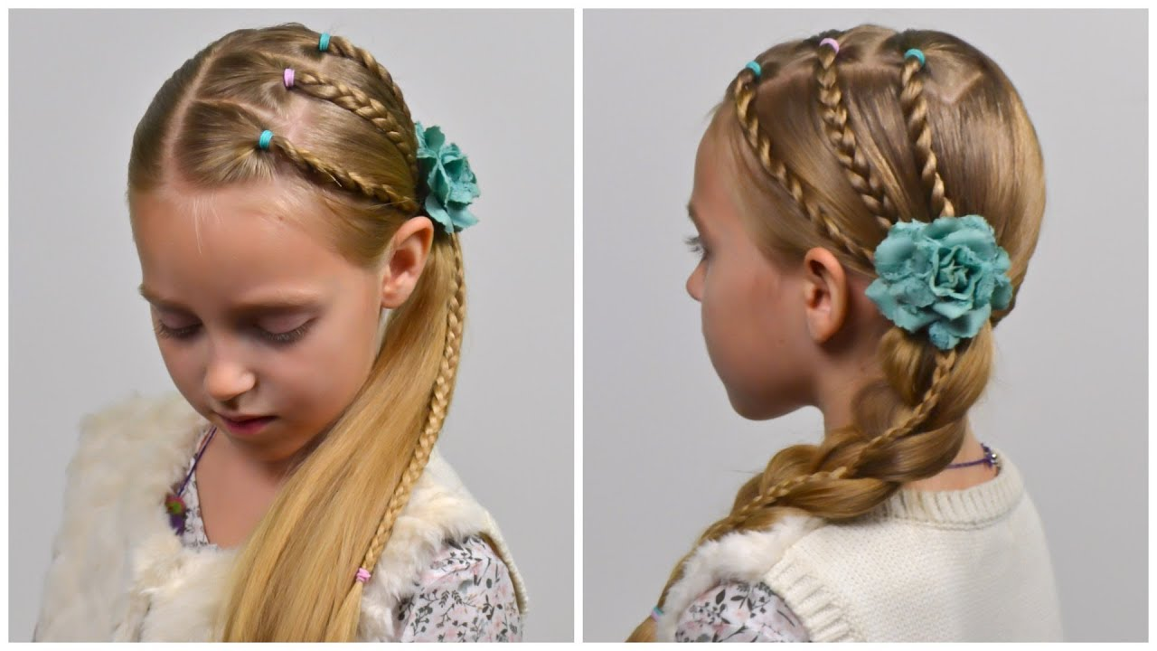 Stacked French Braid 2 Cute 5 Minute Back To School Hairstyles Little Girls Hairstyles 90 Lgh