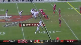 Matt Ryan curses during cadence