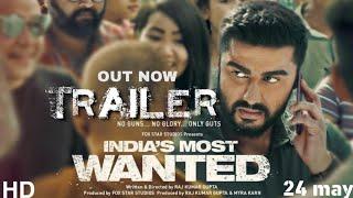 India's most wanted Trailer | Arjun Kapoor, Raj kumar gupta | 24 may