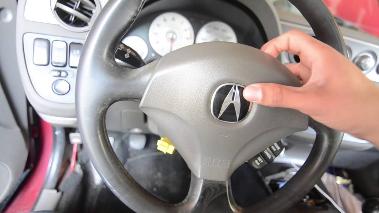 RSX Type R Momo steering wheel install