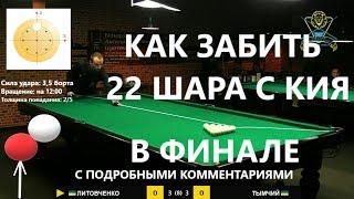 Как забить 22 шара с кия в финале на  Lviv Open