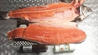 Как чистить рыбу / как разделать рыбу на филе , семгу /красная рыба