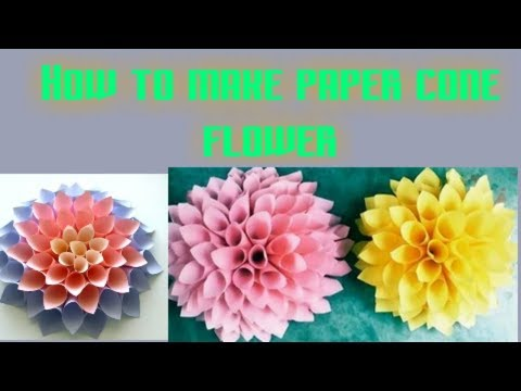 Video NEP how to make paper cone flower