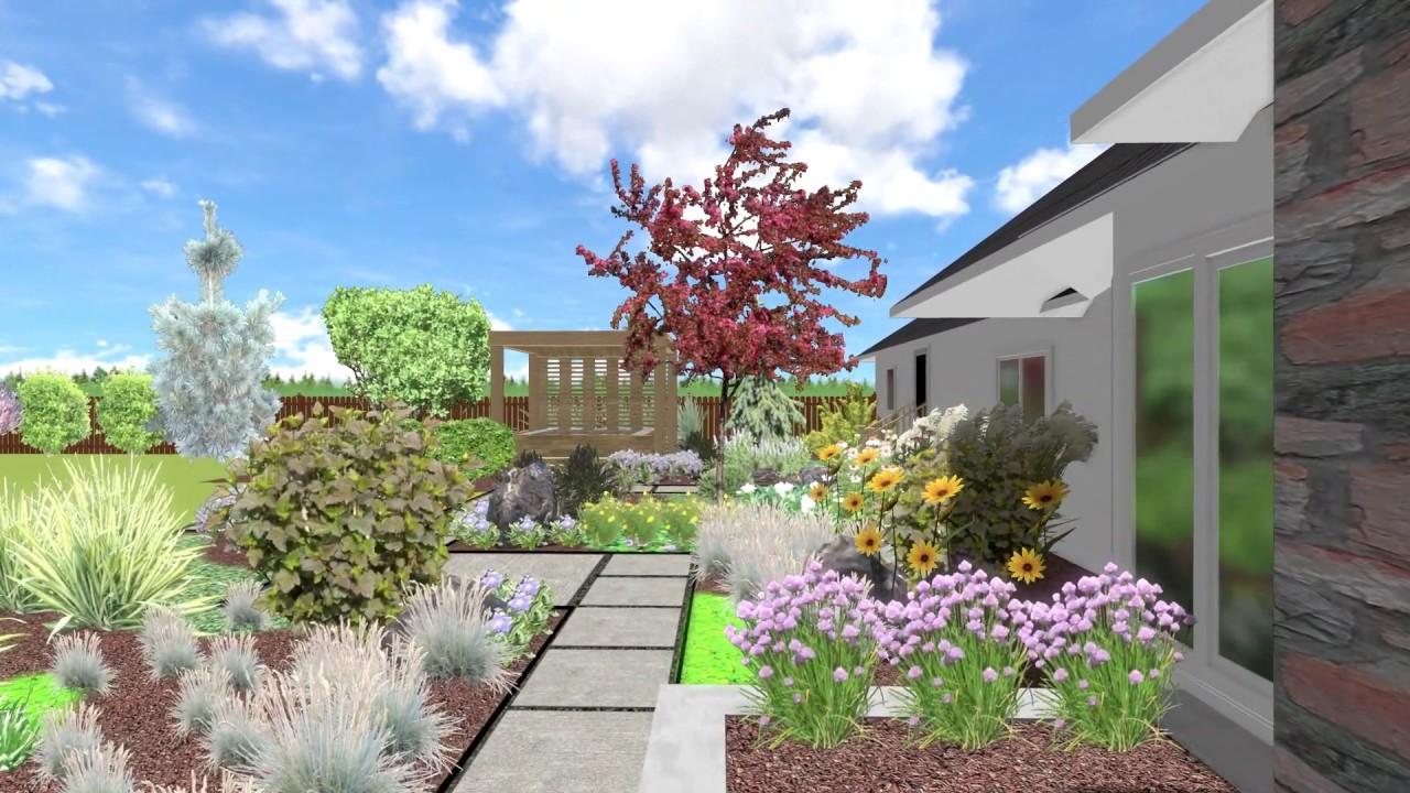 Modern Farmhouse Landscape Design Example 3d Video Walkthrough