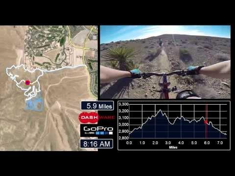 Las Vegas Mountain Biking -- Bears Best Map -- Alternative Route