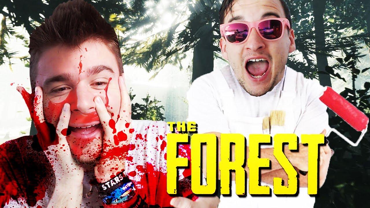 DOBRODZIEJ POMALOWAŁ MNIE NA CZERWONO! | The Forest [#3] (With: Dobrodziej)