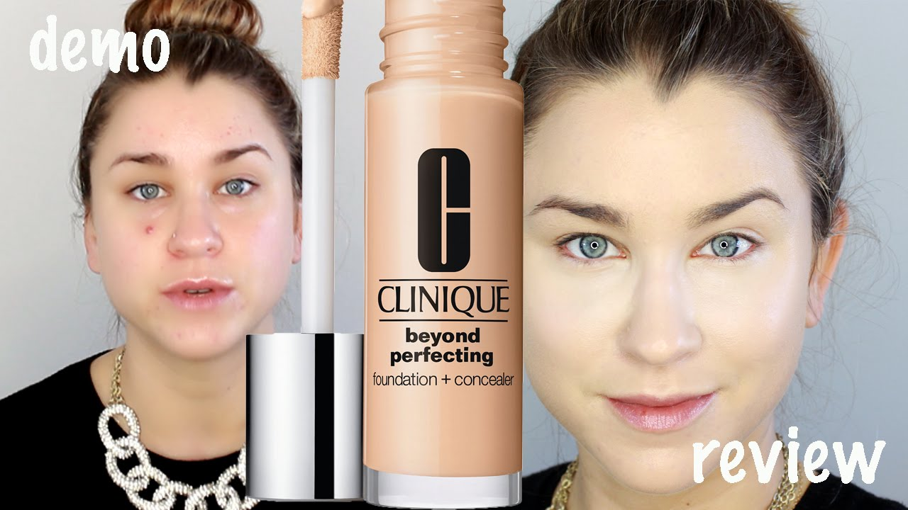 New Clinique Beyond Perfecting Foundation Concealer Demo Review